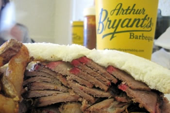The beef sandwich from Arthur Bryant's