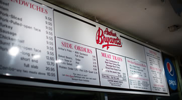 Arthur Bryant's Barbeque Restaurant offers catering or drop-off service at your location for groups of 40 or more.
